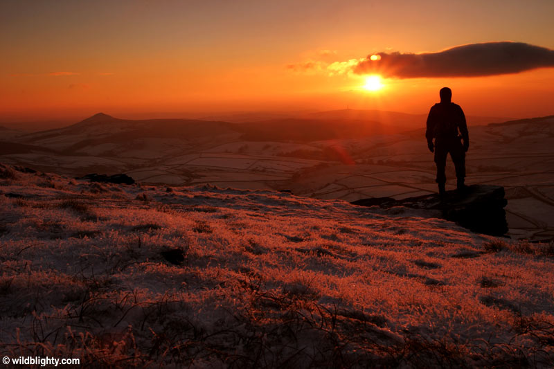 Sunset on Shining Tor in Cheshire