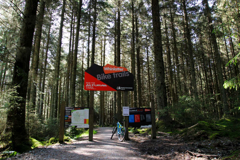 Sign for the Altura Trail at Whinlatter Forest