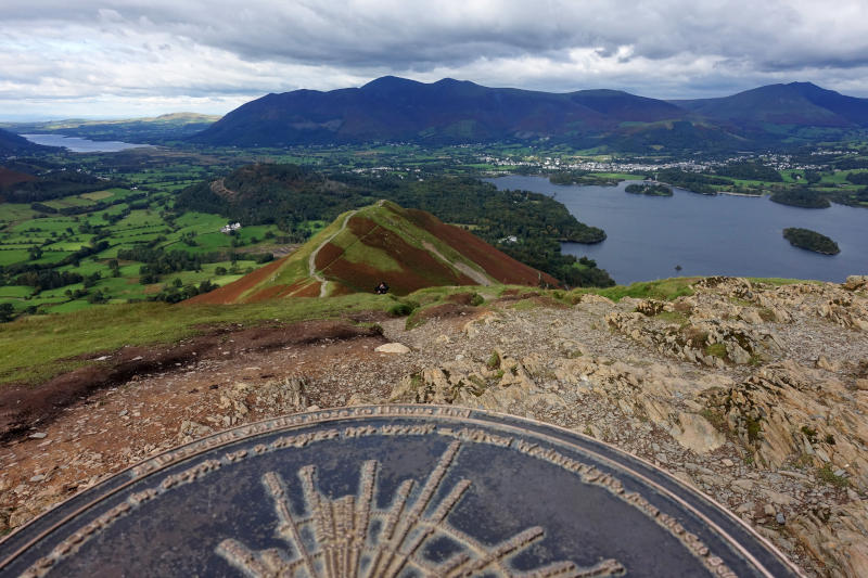 View from Catbells including Derwentwater.