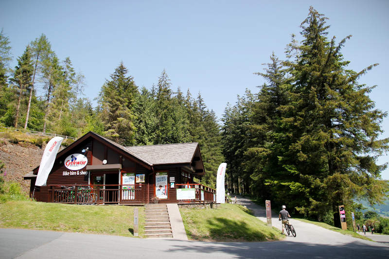 Cyclewise bike shop in Whinlatter Forest