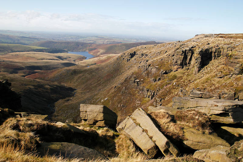 View from Kinder Scout out to Kinder Reservoir