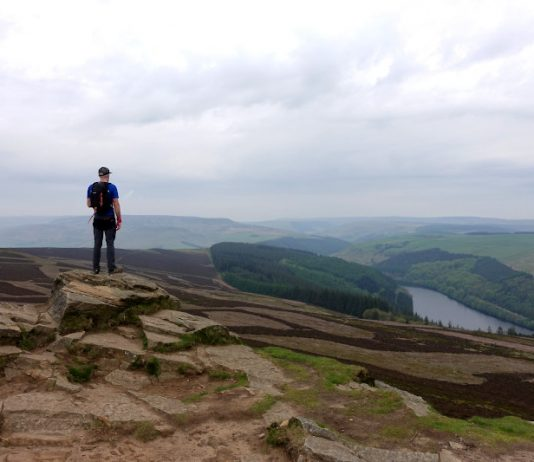 Ladybower Reservoir from Win Hill