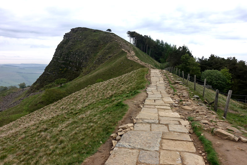 The paved approach to Back Tor